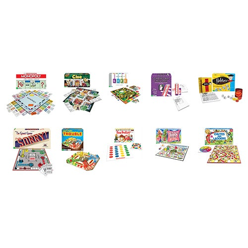 10 Classic Board Game Bundle