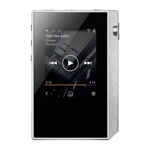 Portable Hi-Res Audio Player, Silver/White
