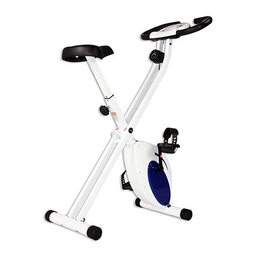 Body Rider Deluxe Folding Exercise Bike, Blue